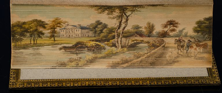 Miscellaneous Works of Oliver Goldsmith, The. FORE-EDGE PAINTING, artist MISS C. B. CURRIE, RIVIÈRE, binders SON, Oliver GOLDSMITH.
