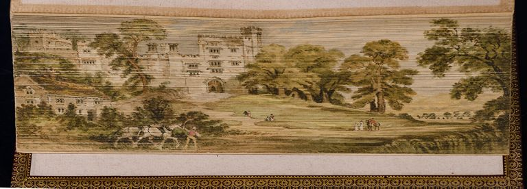 Evenings at Haddon Hall, FORE-EDGE PAINTING, BARONESS DE CALABRELLA, artist MISS C. B. CURRIE, RIVIÈRE, binders SON, Catherine BALL.
