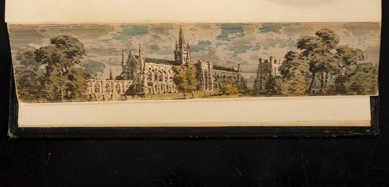 """Poetical Works of William Collins, The. FORE-EDGE PAINTING, artist The """"DOVER PAINTER"""", binder HAYDAY, William COLLINS."""