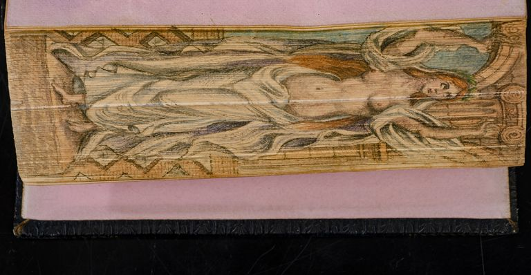 Fables. FORE-EDGE PAINTING, ANACREON, SAPPHO, MUSAEUS of ATHENS.