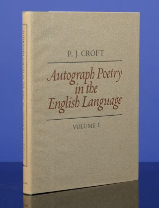 Autograph Poetry in the English Language. Peter John CROFT