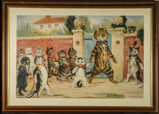 """The Good Puss"" Louis WAIN, Artist"