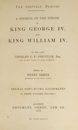 Greville Memoirs, The