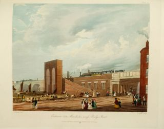 Six Coloured Views on the Liverpool and Manchester Railway, with a Plate of the Coaches, Machines, &c.