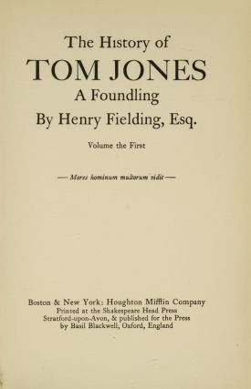 Novels of Henry Fielding, The