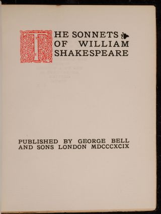 Sonnets of William Shakespeare, The