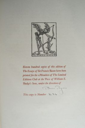 Essays of Francis Bacon, The