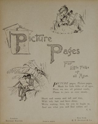 Picture Pages For Little Folks of All Ages