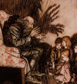 Rip Van Winkle. Arthur RACKHAM, illustrator, Washington IRVING.