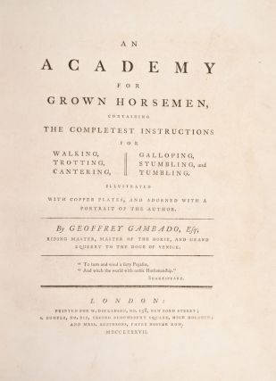 Academy For Grown Horsemen, An