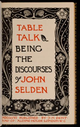 Table Talk, John SELDEN.