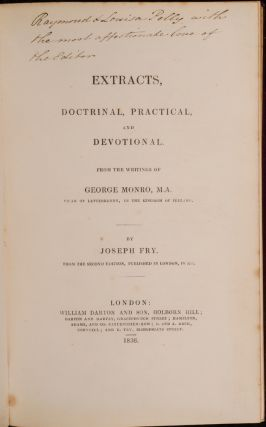 Extracts, Doctrinal, Practical, and Devotional.