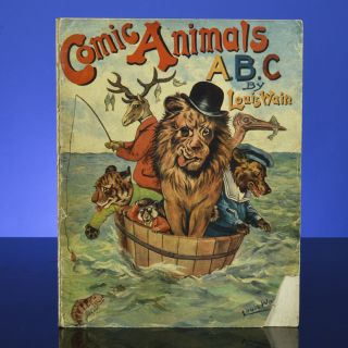 Comic Animals ABC. Louis WAIN.