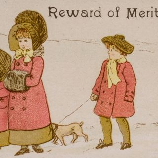 Reward of Merit Cards. Kate GREENAWAY.