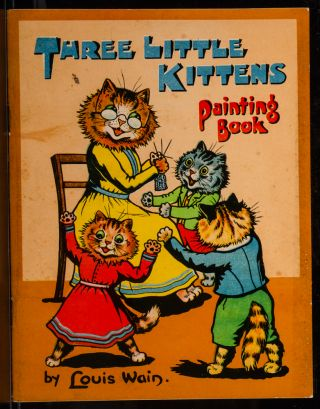 Three Little Kittens Painting Book. Louis WAIN