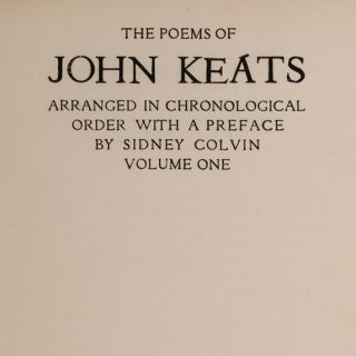 Poems of John Keats, The