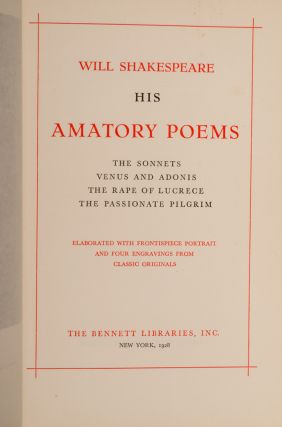 His Amatory Poems
