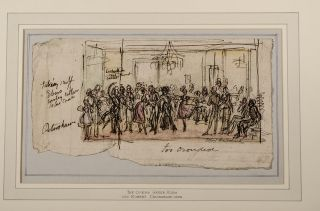 A collection of eight original pen, pencil and watercolor drawings for Pierce Egan's Finish to… Life in London (1830) and Westmacott's The English Spy (1825), Robert Isaac CRUIKSHANK, Pierce EGAN, Charles Molloy WESTMACOTT.