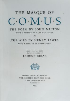 Masque of Comus, The