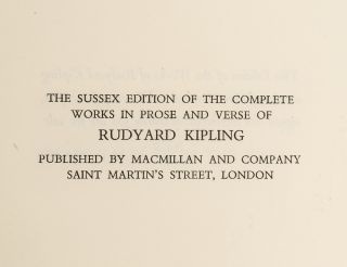 Sussex Edition of the Complete Works in Prose and Verse of Rudyard Kipling, The