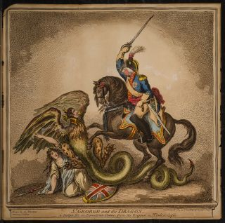 St. George and the Dragon. James GILLRAY.