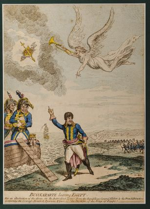 Buonaparté Leaving Egypt. James GILLRAY.