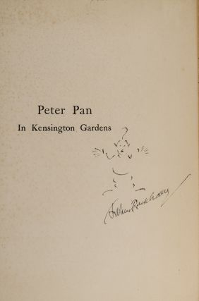 Peter Pan in Kensington Gardens. Arthur RACKHAM, illustrator, J. M. BARRIE.