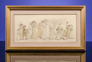 [A Floral Procession]. Kate GREENAWAY.