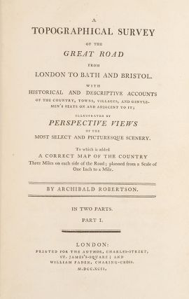 Topographical Survey of the Great Road from London to Bath and Bristol, A