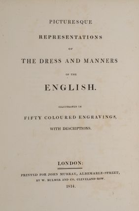 Picturesque Representations of the Dress and Manners of the English