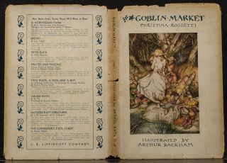 [The Christmas Books] MOORE, Clement C. The Night before Christmas. [And:] RUSKIN, John. The King of the Golden River. [And:] ROSSETTI, Christina. Goblin Market. [And:] BROWNING, Robert. The Pied Piper of Hamelin.