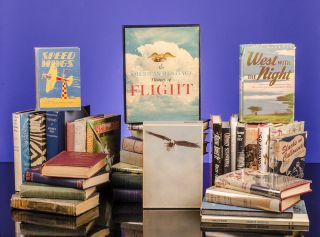 [The extensive collection of 372 titles all related to Manned Flight, Aeroplanes, Stunt Pilots]