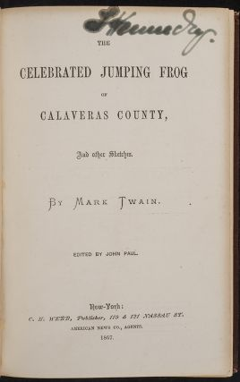 Celebrated Jumping Frog of Calaveras County,