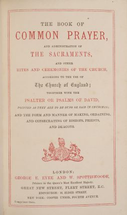 Book of Common Prayer, The [and] Hymns Ancient and Modern