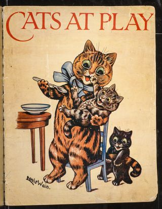 Cats at Play. Louis WAIN