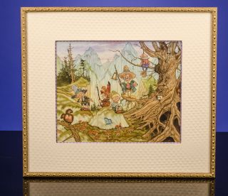 [Five Goblins and Elves on a Mountain]. Michael HAGUE, artist, William ALLINGHAM.