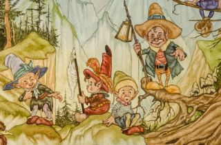 [Five Goblins and Elves on a Mountain]
