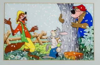 Rabbit, Br'er Fox and Br'er Bear having fun in the snow. WALT DISNEY STUDIOS
