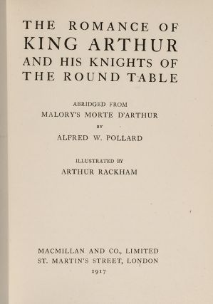 Romance of King Arthur and His Knights of the Round Table, The