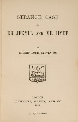 Strange Case of Dr Jekyll and Mr Hyde. Robert Louis STEVENSON, RIVIÈRE, binders SON.