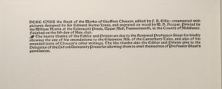 Works of Geoffrey Chaucer, The
