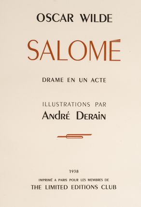 Salomé A Tragedy in One Act [with] Salomé Drame en un Acte