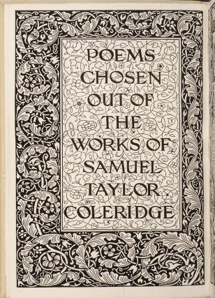 Poems Chosen out of the Works of Samuel Taylor Coleridge