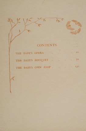 Triplets: Comprising The Baby's Opera, The Baby's Bouquet, and the Baby's Own Æsop
