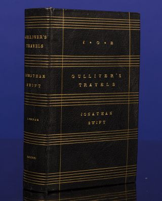 Gulliver's Travels by Jonanthan Swift, D.D. Jonathan SWIFT, binder Gray of Cambridge, First Edition Club.