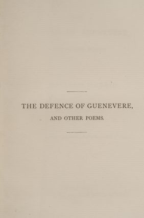 Defence of Guenevere, and Other Poems, The
