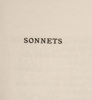 Sonnets of Shakespeare, The