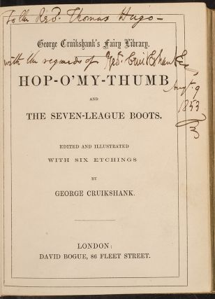 George Cruikshank's Fairy Library. George CRUIKSHANK, Francis BEDFORD, binder