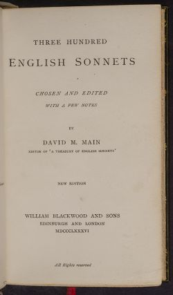 Three Hundred English Sonnets