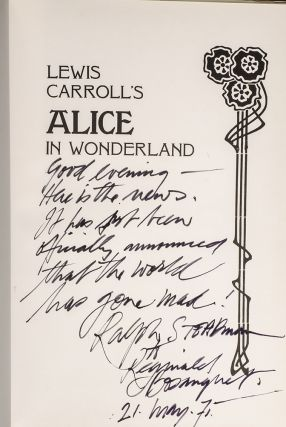 Alice in Wonderland. Ralph STEADMAN, Lewis CARROLL